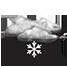 Coperto con neve debole