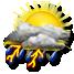 Nubi irregolari con temporale forte
