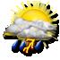 Nubi irregolari con possibile temporale